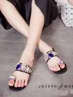 รองเท้าแตะสีดำ แบบสวมนิ้วโป้งลำลองงานผ้าตาข่ายสีสวยหวานน่ารักๆ Marc joseph แบรนด์จาก New York