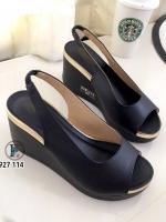 รองเท้าเตารีดแบบรัดส้น เปิดหน้า (สีดำ )