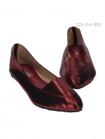 รองเท้าคัทชู แฟรตหัวแหลม (สีแดง)