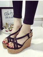 รองเท้ารัดส้นแบบเตารีดสีดำ korea style พื้นกันลื่นอย่างดี สายรัดส้นพียูนิ่ม ปรับระดับได้ งานสวย ใส่สบาย สูง 4 นิ้ง หน้าสูง 1.5 นิ้ว จะแมทช์ชุดทำงานเกร๋ๆ