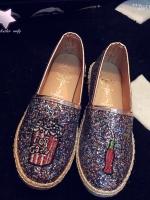 รองเท้าคัทชูสีรุ้ง วัสดุกระสอบป่าน งานเกาหลี ไม่ซ้ำใครแน่นอนค่ะ