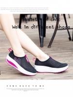 รองเท้าผ้าใบเสริมส้น Sport Girl (สีดำ )