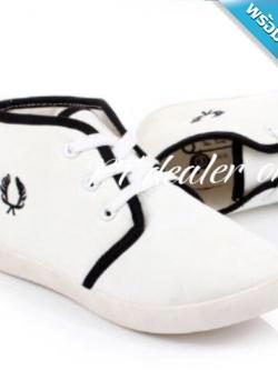 รองเท้าผ้าใบผู้หญิงสีขาว แถบสีดำ พื้นสีขาว ทูโทน หุ้มข้อ น่ารัก แฟชั่นเกาหลี แฟชั่นพร้อมส่ง
