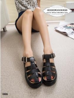 รองเท้าแตะสีดำ แตะเสริมส้น ทรงตะกร้อ สูง1นิ้ว งานนำเข้า ใส่สบายสุดๆ