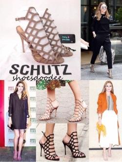 รองเท้าส้นสูงสีดำ สไตล์แบรนด์ SCHUTZ งานเก๋ สุดชิค การันตีความแซ่บเว่อร์ สูง4นิ้ว
