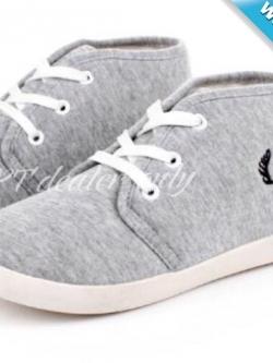 รองเท้าผ้าใบผู้หญิงสีเทา พื้นสีขาว ทูโทน หุ้มข้อ น่ารัก แฟชั่นเกาหลี แฟชั่นพร้อมส่ง