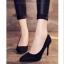 รองเท้าคัทชูส้นสูง กำมะหยี่นิ่ม (สีดำ) thumbnail 6