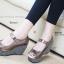 รองเท้าส้นเตารีด หุ้มส้น ลายชิโนริ (สีน้ำตาล ) thumbnail 2
