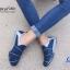 รองเท้าผ้าใบผู้หญิง สไตล์สปอร์ตเกิร์ล (สีน้ำเงิน ) thumbnail 4