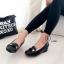 รองเท้าคัทชูเสริมส้น หัวตัด (สีดำ ) thumbnail 3