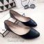รองเท้าคัทชูส้นแบน หัวแหลม หนังวิ้งๆ (สีดำ ) thumbnail 3