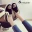 รองเท้าผ้าใบผู้หญิง ทรงLoafer แต่งขอบทอง (สีดำ) thumbnail 6