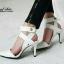 รองเท้าส้นเข็มรัดข้อ สไตล์ ZARA (สีขาว ) thumbnail 5