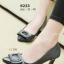 รองเท้าคัทชูส้นสูง หัวแหลม แต่งคริสตัลใส (สีดำ) thumbnail 1