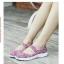 รองเท้าผ้าใบแฟชั่น ผ้ายืดสาน พื้นหักงอได้ (สีชมพูลาย ) thumbnail 4