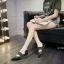 รองเท้าแฟชั่นส้นแบน หัวแหลม สไตล์Zara (สีดำ ) thumbnail 5