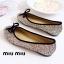 รองเท้าคัทชูส้นแบน แต่งขอบดำ สไตล์Miumiu (สีรุ้ง) thumbnail 4
