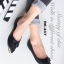 รองเท้าคัชชู ส้นแบนหนังนิ่ม(สีดำ)