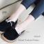 รองเท้าคัทชูส้นแบน หัวกลม สไตล์ลำลอง (สีดำ ) thumbnail 2