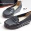 รองเท้าคัทชูส้นเตี้ย หนังเย็บ (สีดำ ) thumbnail 6
