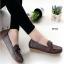 รองเท้าหุ้มส้นผู้หญิง สไตล์Loafer (สีน้ำตาล )
