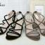 รองเท้าส้นเตี้ยสไตล์เกาหลี ดีไซส์สายไขว้กัน (สีเทา ) thumbnail 5