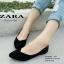 รองเท้าคัชชู สไตล์แบรนด์ZARA หนังกำมะหยี่นิ่ม (สีดำ ) thumbnail 4