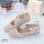 รองเท้าคัทชูแบบสายรัด ฉลุลาย แนววินเทจ (สีแอปปริคอท ) thumbnail 3