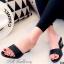 รองเท้าแตะส้นสูง หนังเงาวิ้ง (สีดำ ) thumbnail 1