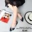 รองเท้าคัทชูหัวแหลม แต่งโบว์ สีทูโทน (สีดำ ) thumbnail 4