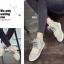 รองเท้าผ้าใบหุ้มข้อ เสริมส้น สไตล์เกาหลี (สีครีม ) thumbnail 3