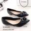 รองเท้าคัทชู หัวแหลม แต่งกุหลาบ (สีดำ ) thumbnail 4