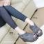 รองเท้าส้นเตารีด ทรงรัดส้น สไตล์เกาหลี (สีเทา ) thumbnail 4
