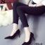 รองเท้าคัทชูส้นสูง กำมะหยี่นิ่ม (สีดำ) thumbnail 4