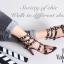 รองเท้าส้นสูง ทรงส้นเข็มรัดข้อ สไตล์ valentino (สีดำ) thumbnail 5