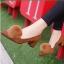 รองเท้าคัทชูส้นสูง หัวแหลม แต่งขนมิ้งค์ (สีน้ำตาล) thumbnail 3