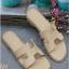 รองเท้าแตะ แบบสวม สไตล์H (สีครีม )