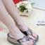 รองเท้าแตะเพื่อสุขภาพ ส้นหนา สายคาดเมทัลลิคเงา (สีเทา ) thumbnail 1