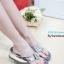 รองเท้าแตะเพื่อสุขภาพ ส้นหนา สายคาดเมทัลลิคเงา (สีเงิน ) thumbnail 1
