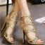 รองเท้าส้นสูงสีทอง ส้นสูง4 นิ้ว มีกริตเตอร์ สวยเปรี้ยวมาก สายคล้องข้อเท้า สองสายเพิ่มความกระชับเวลาใส่ ใส่แล้วขายาว สูงเพรียว ออกงาน ปาร์ตี้ คู่นี้เลยคร่า