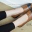 รองเท้าคัทชูเพื่อสุขภาพ สีทูโทน หนังเย็บ (สีน้ำตาล ) thumbnail 3