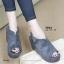 รองเท้าส้นเตารีด ทรงรัดส้น สไตล์เกาหลี (สีเทา ) thumbnail 5