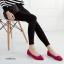 รองเท้าคัทชู หัวแหลม แต่งมุก (สีแดง) thumbnail 4