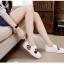 รองเท้าผ้าใบสไตล์ลำลอง ทรงสวม (สีขาว) thumbnail 3