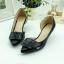 รองเท้าคัทชู เว้าข้าง ทำจากพียูแก้ว (สีดำ ) thumbnail 5