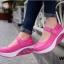 รองเท้าผ้าใบเสริมส้น สไตล์สปอร์ต (สีชมพู ) thumbnail 4