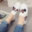 รองเท้าผ้าใบสไตล์ลำลอง ทรงสวม (สีขาว) thumbnail 4