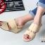 รองเท้าส้นเตารีด แบบสวมหนังนิ่ม (สีครีม ) thumbnail 3