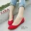 รองเท้าคัชชู สไตล์แบรนด์ZARA หนังกำมะหยี่นิ่ม (สีแดง ) thumbnail 3