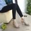 รองเท้าส้นสูงรัดข้อ เปิดส้น สไตล์ปราด้า (สีเทา) thumbnail 2